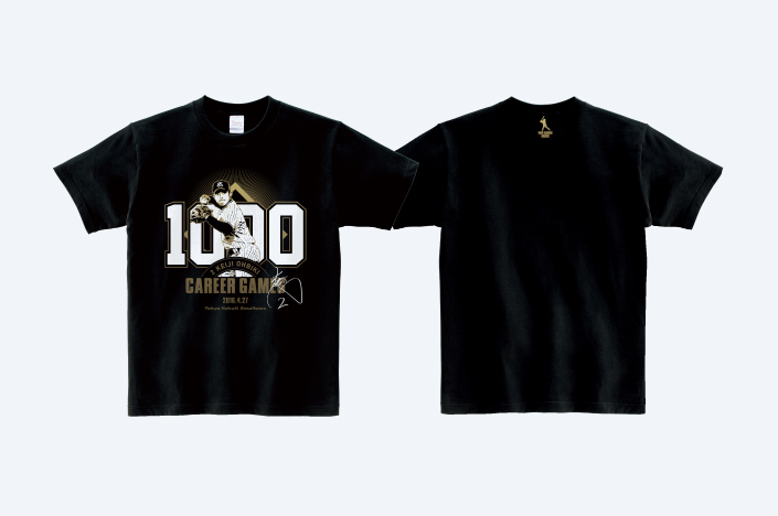 SWALLOWS KEIJI OHBIKI 1000 GAMES T-SHIRT