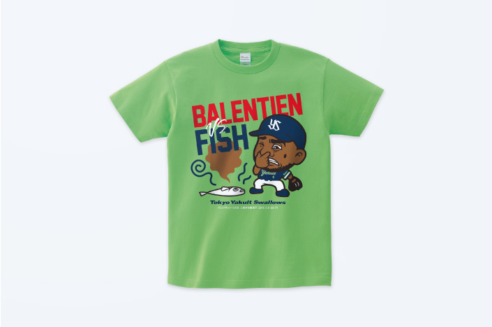 SWALLOWS BALENTIEN VS FISH T-SHIRT